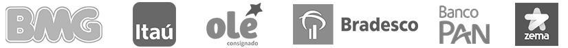 Logos de bancos parceiros da uConecte